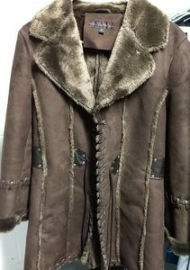Women's Cowboy- stitched wool coat